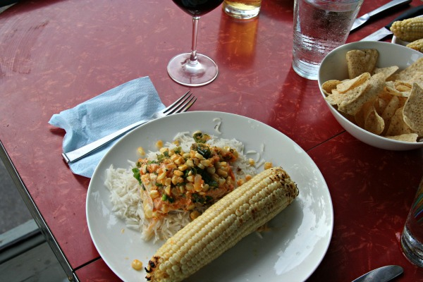 Grilled Salmon in Corn Husks