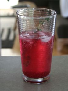 blueberry syrup drink