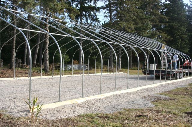 greenhouse assembly work