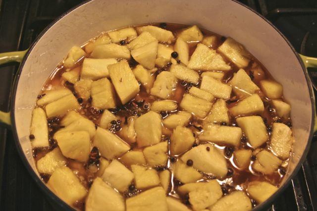 pineapples simmering