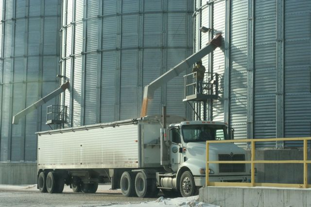 grain truck loading reynolds