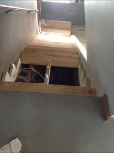 stairs going in
